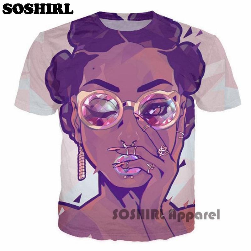 Cartoon Characters Smoking Weed T Shirts Sexy Lady Print T Shirts
