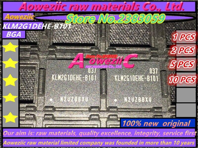 Aoweziic (1 PZ) (2 PZ) (5 PZ) (10 PZ) 100% nuovo originale KLM2G1DEHE-B101 BGA chip di memoria KLM2G1DEHE B101