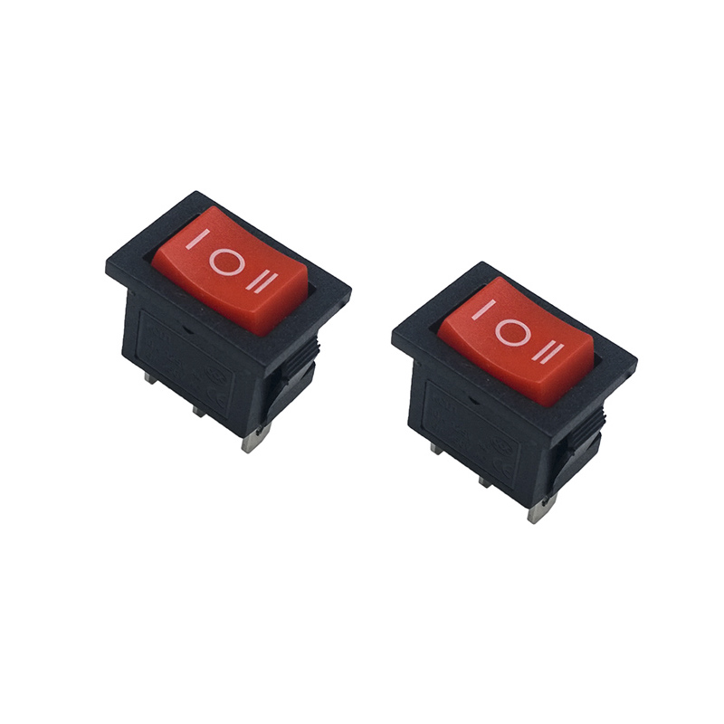 5pcs/lot 21*15mm SPST 3PIN Snap-in ON/OFF/ON Position Snap Boat Rocker Switch 6A/250V High Quality Copper feet