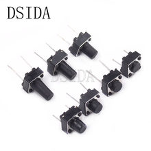 20pcs Middle 2pin 6*6*4.3 mm Switch Tactile Push Button Switches 6x6x4.3mm DIP-2 Light Touch Keys Keyboard(China)