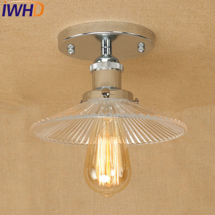 IWHD Loft Style Edison Industrial Ceiling Lamps Antique Iron Glass Vintage Ceiling Light Fixtures Indoor Lighting LuminariaIWHD Loft Style Edison Industrial Ceiling Lamps Antique Iron Glass Vintage Ceiling Light Fixtures Indoor Lighting Luminaria