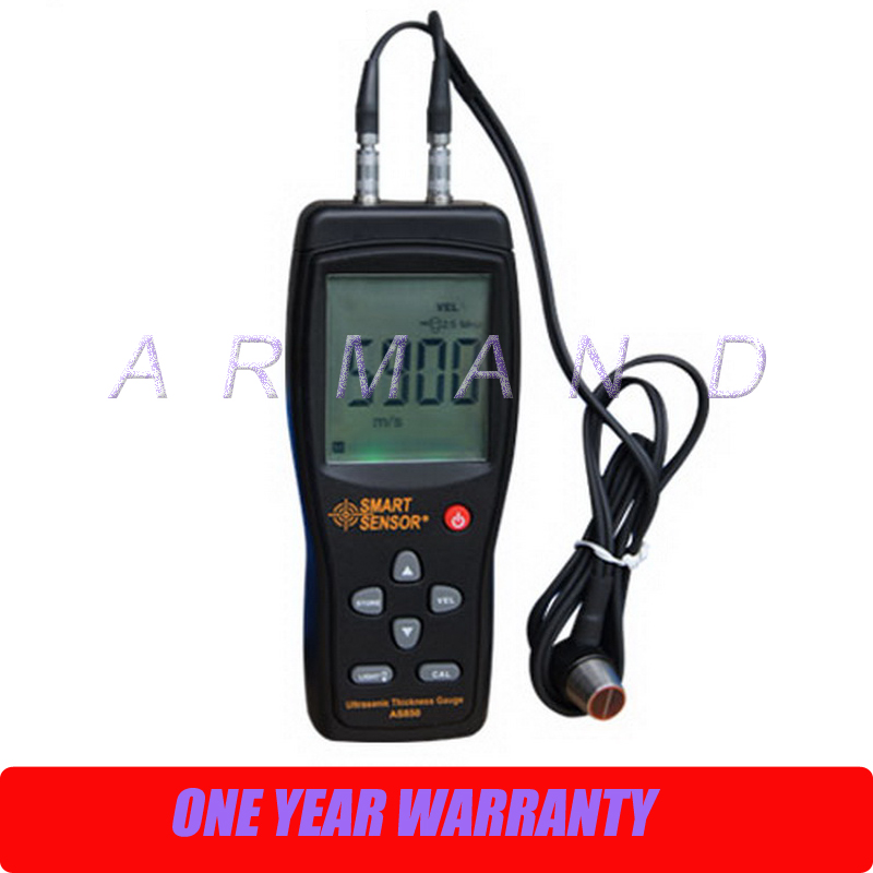 Digital Ultrasonic Thickness Gauge AS850 Smart Sensor 1.2-225mm Steel Aluminium Plate thickness tester ultrasonic thickness gauge smart sensor ar850 1 2 225mm digital wall thickness meter