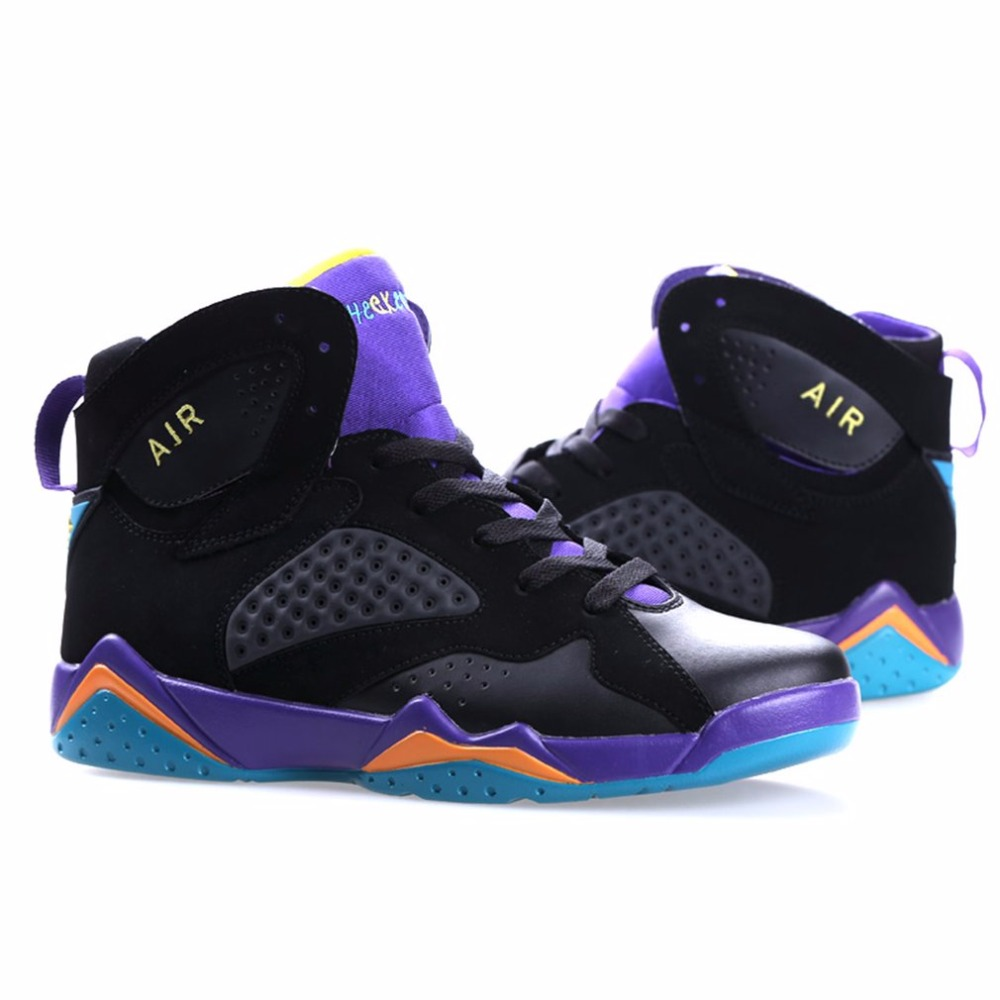 High Upper Lovers Shoes Unisex Breathable Sports Shoes Wear Resistant Outdoor Basketball Shoes