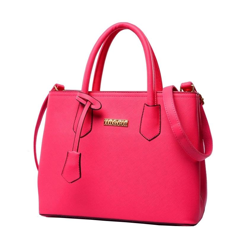 Women Elegant Large Hand Bag Stylish Simple Embossed PU Leather font b Handbag b font Fashion