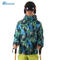 Goexplore Snowboard Jacket Male M 3XL Double Layer Waterproof Windproof Warm Ski Snow Camping Hiking Overcoat