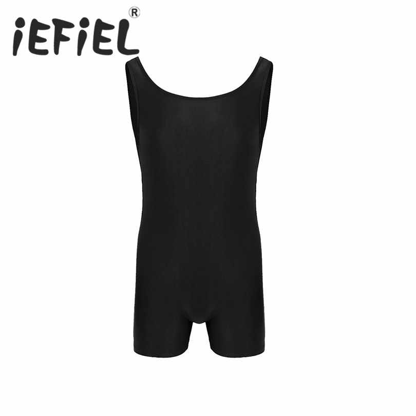 4f00502972d iEFiEL Mens Male Lingerie Sleeveless Sport Gym Bodysuit Leotard Dance  Biketard Unitard Jumpsuit Underwear Nightwear Sleepwear