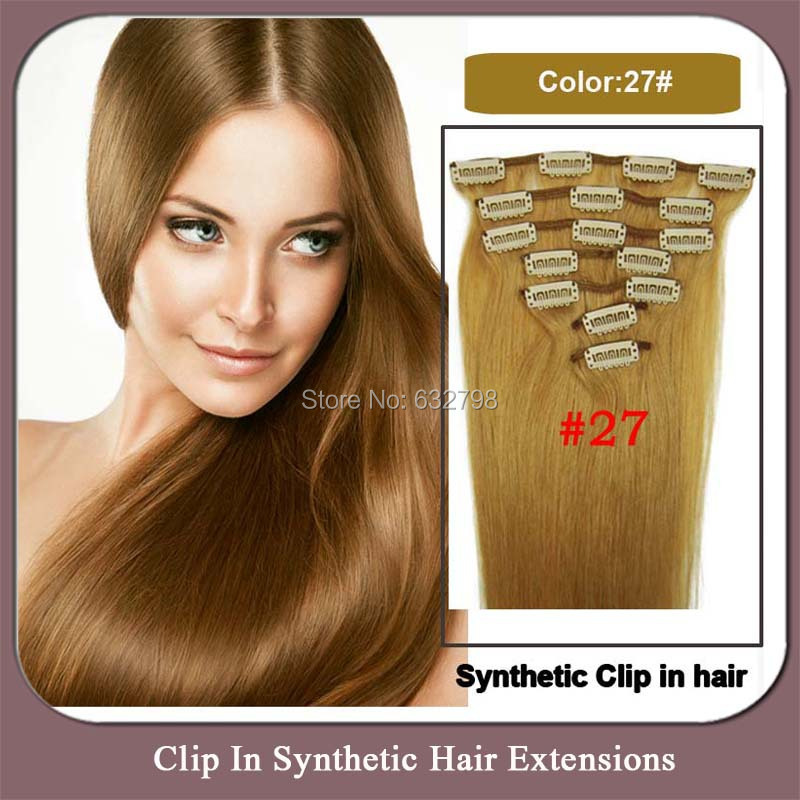 Hot Selling 22inch 55cm Long Clip In On Hair Extensions Natural