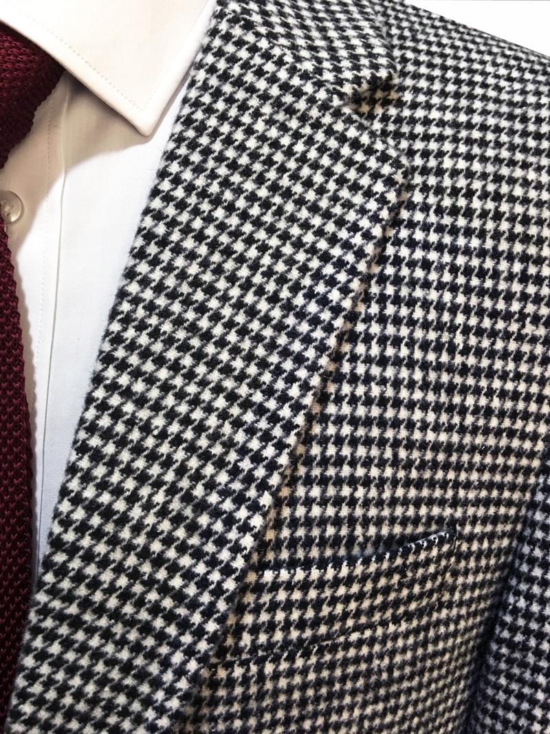 Jacke 17 Casual White Anzug 26 22 Schwarz 18 Black And Weste Hosen Nach 19 Maß 27 Hahnentritt Blazer 15 Hochzeit Woolen 25 wxSq0H