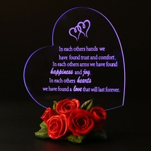 Gift Garden Heart Shaped LED Light love heart shaped confession gift led night light