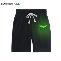 Sun Moon Kids Pants Boy Glowing Cartoon Bats Boy Kids Costuming 2017 New Children Chothing 100