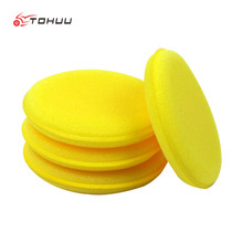 12 Pcs/lot High Qualtiy Sponge Polishing Wax Pad Soft Microfiber Car Wax Applicator Pads Polishing Sponges Car Waxing Sponges