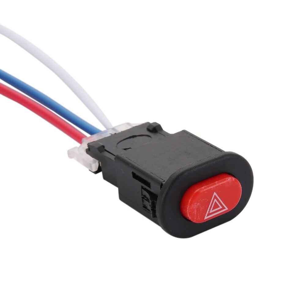100% Wahr Motorrad Gefahren Licht Schalter Doppel Warnung Flasher Notfall Signal W/3 Drähte Lock MöChten Sie Einheimische Chinesische Produkte Kaufen?