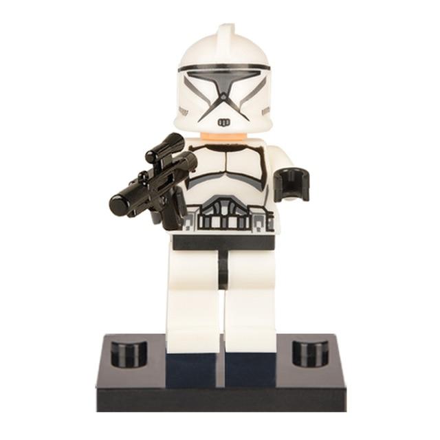 100PCS Star Wars Clone Trooper Captain Rex Captain Building Blocks Bricks Action Children Gift Toys XH