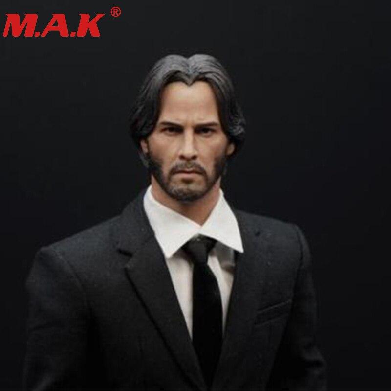 1/6 scale in stock John Wick Keanu Reeves man male beard head sculpt head carving model fit 12 action figure accessory цена