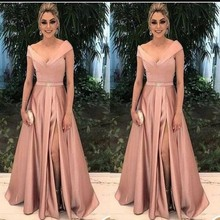Elegant Mother of the Bride Dresses for Weddings Party Gowns A Line Satin Pleat Formal Godmother