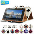 10.1'' Leather case For Huawei MediaPad M2 10 Universal Cover, Flora Printed Tablet Stand case For Huawei