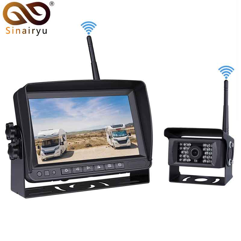 2018 Update Digital Wireless Backup Camera and Monitor Kit For Truck/Trailer/Bus/RV/Pickups/Trailer Reverse Rear view Cam Kit