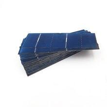 Panel Solar fotovoltaico, placa de células solares de silicio policristalino, bricolaje, 78x26mm, 0,5 V, 0,37 W, 50 Uds.