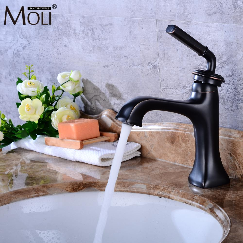 Luxury Bathroom Basin Sink Faucet Waterfall Bathroom Basin Sink Mixer Tap Oil Rubble Bronze Faucets Hot and Cold Water flg basin faucets modern orb bathroom faucet waterfall faucets single hole cold and hot water tap basin faucet mixer taps