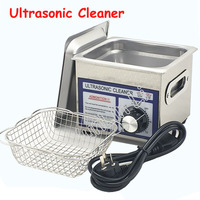 60W 1.3L Ultrasonic Cleaner Jewelry Cleaning Machine Glasses, Watches Washer with Basket PS 08T