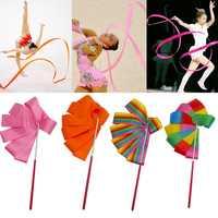 2 M/4 M Bunte Gym Bänder Dance Band Rhythmic Gymnastic Kunst Ballett Streamer Twirling Rod Stick Turnhalle Training professionelle 8