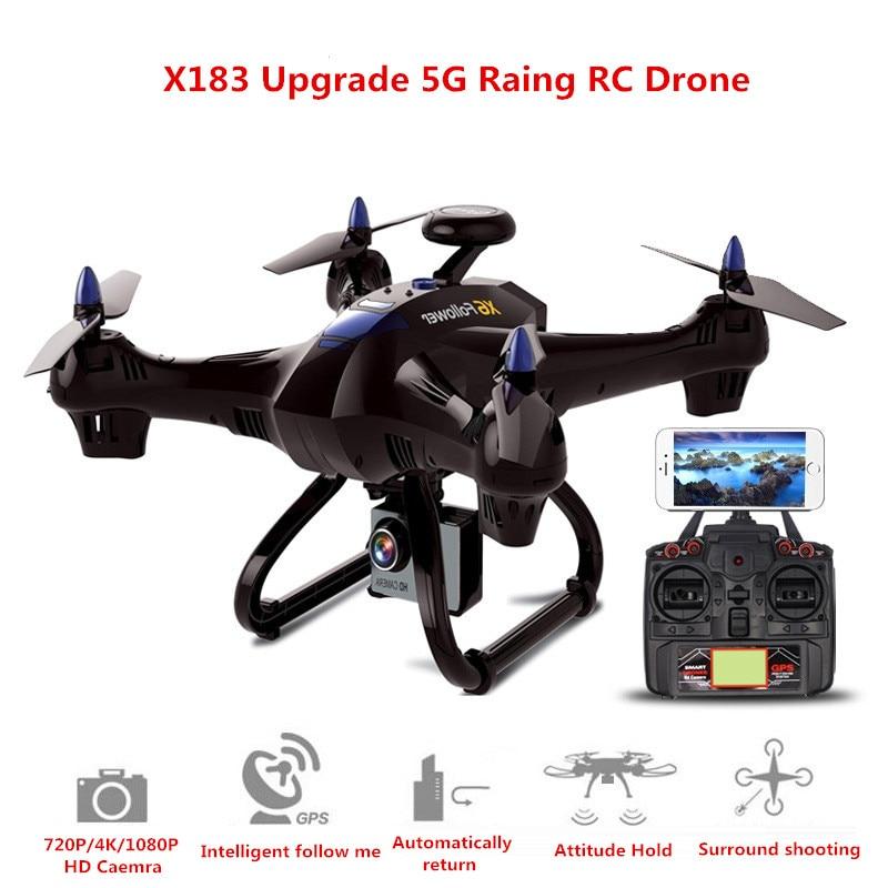купить 2018 Follower X183 Upgrade 400M 5G GPS Follow Me Mode Wifi FPV RC Drone with 1080P/720P HD Camera Quadcopter Helicopter VS B2W по цене 10546.21 рублей