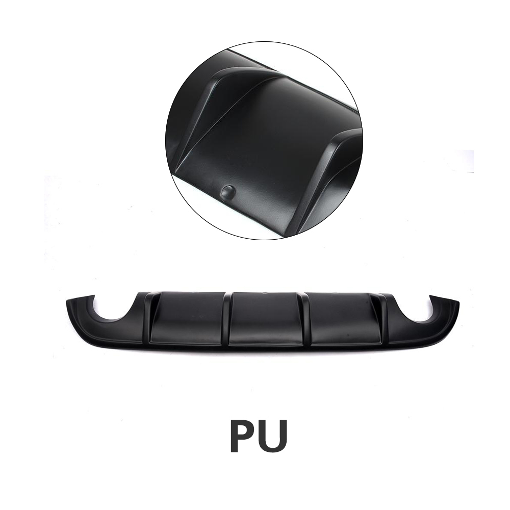 Задний бампер диффузор спойлер защита для Infiniti Q50 база и Спорт 2013- углеродное волокно/FRP/PU - Цвет: PU
