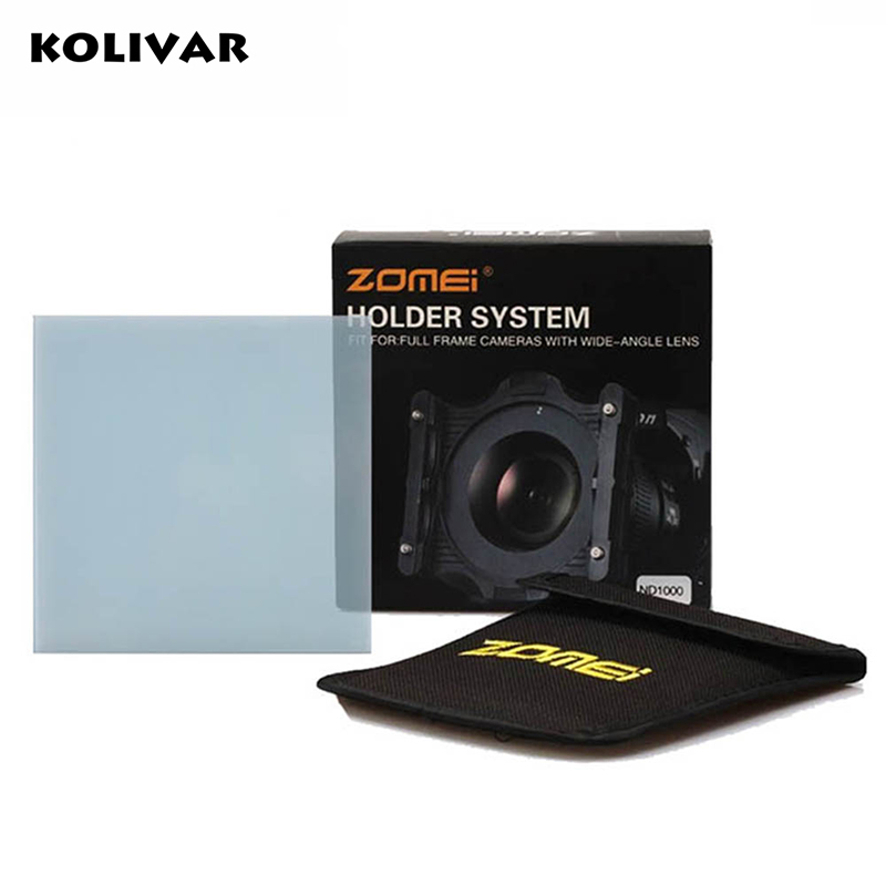 KOLIVAR Zomei Square Filter ND2 Optical Glass 100x100 Neutral Density Grey ND Filter for Cokin Z-PRO Series Lee Hitech Singh-Ray цена