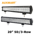 Auxmart 20 inch CREE Chips LED Light Bar 5D 210W 3-Row 252w Offroad Light 4x4 Driving Lamp 12V 24V Truck SUV Pickup ATV 4WD RZR