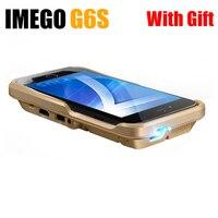 IMEGO Poche DLP Mobile Téléphone Mini Projecteur LED 1080 P Home Cinéma pour IPhone IPad Pico Portable Micro HD Apple IPhone 7 Plus G
