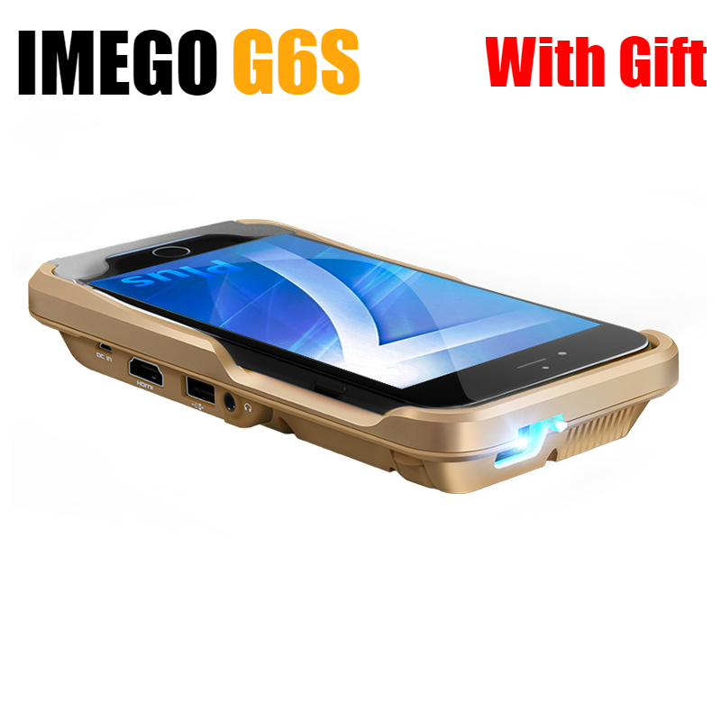 IMEGO Pocket DLP Mobile Phone Mini Projector LED 1080P Home Cinema For IPhone IPad Pico Portable Micro HD Apple IPhone 7 Plus G