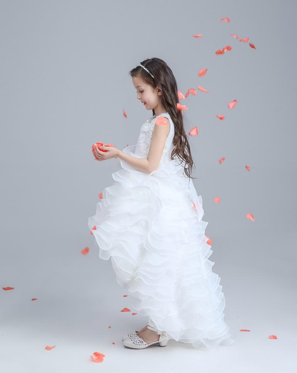 Glitz White Princess Children Flower Girl Dresses For Weddings Kid ...