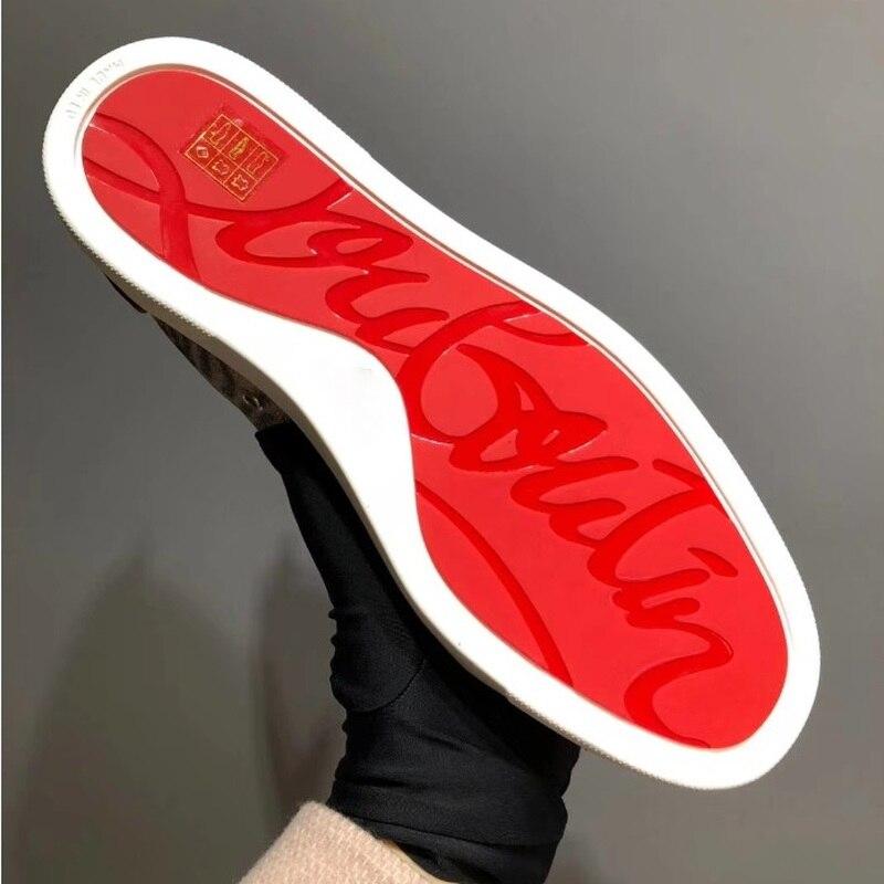 002 Andgz Imprimé Rouge bas Rivets Mocassins Cuir up Homme 001 Pour Cl Chaussures Vache De Dentelle Sneakers Léopard Cheval Plat Cheveux Fond En Coupe Loisirs 2018 4wq8XX