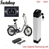Top discharge ebike 36v battery electric bike battery 36V 10Ah for 36V bafang/8fun 500w motor with Aluminium Case+ BMS +Chargrer