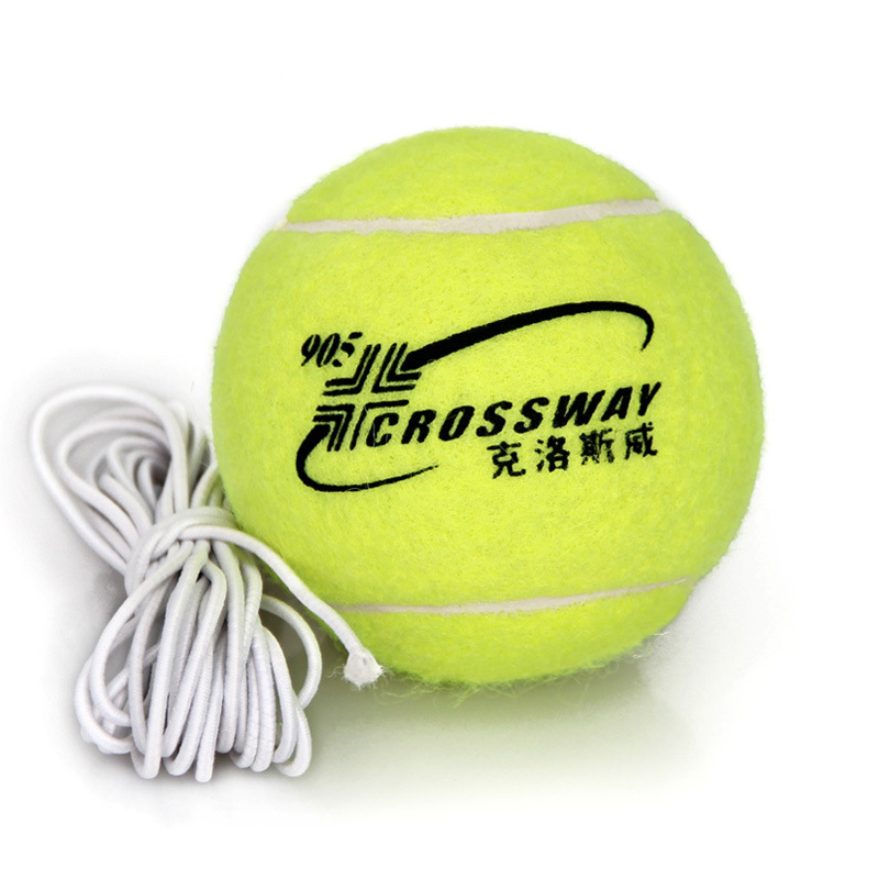 1 Piece Professional Tennis Training Partner Rebound Practice Ball With 3.8m Elastic Rope Rubber Ball For Beginner