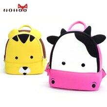 Nohoo impermeable mochilas ortopédicos moda animales niños bolsas escuela mochilas para niñas niños lindos niños de dibujos animados bebé