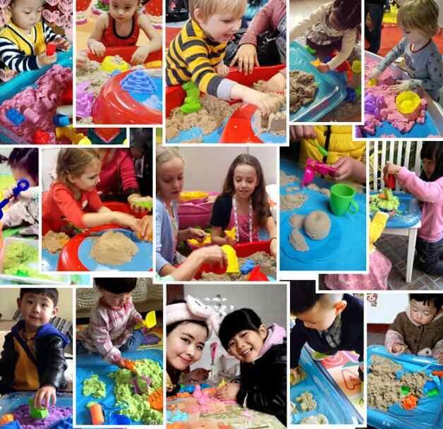 23 Gaya DIY Mainan Pendidikan Indoor Magic Bermain Istana Pasir/Hewan Model Bangunan Dinamis Magic Pasir Tanah Liat Model Bangunan mainan