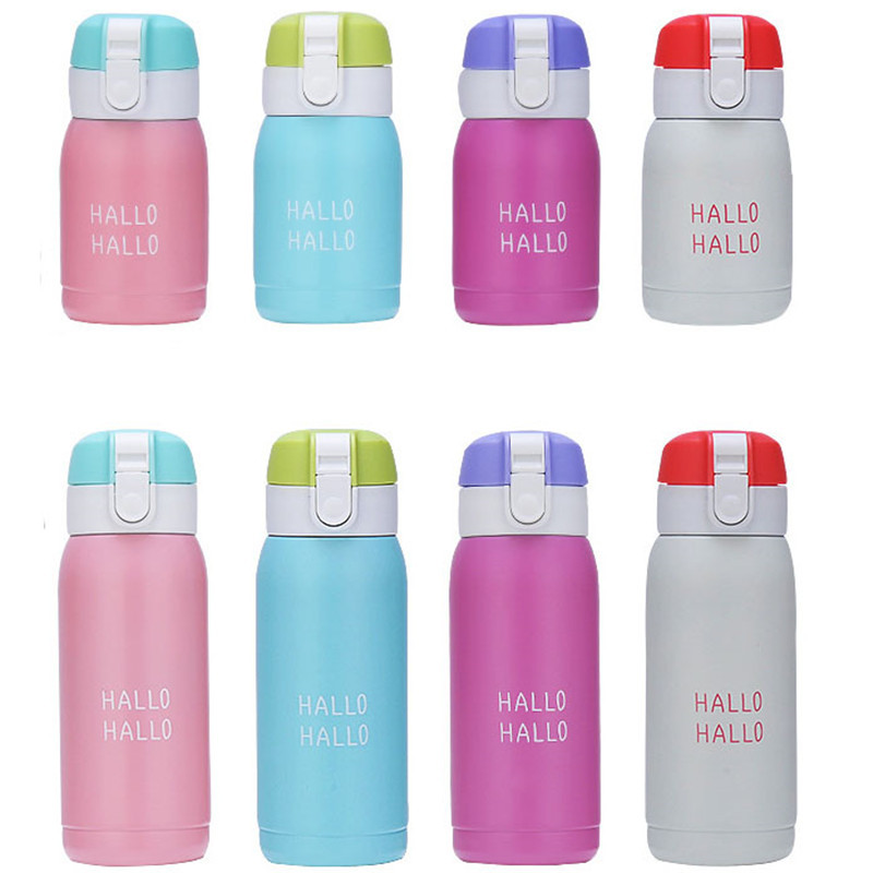 HOT SALE!! 180ML/300ML Stainless Steel Mini Cute Coffee Vacuum Flasks Thermos Travel Drink Water Bottle Thermoses Cups and Mugs