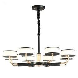 Nowoczesny żyrandol LED klosz szklany żyrandol w stylu nordyckim do salonu zawieszka oprawa oświetleniowa oświetlenie żelazne