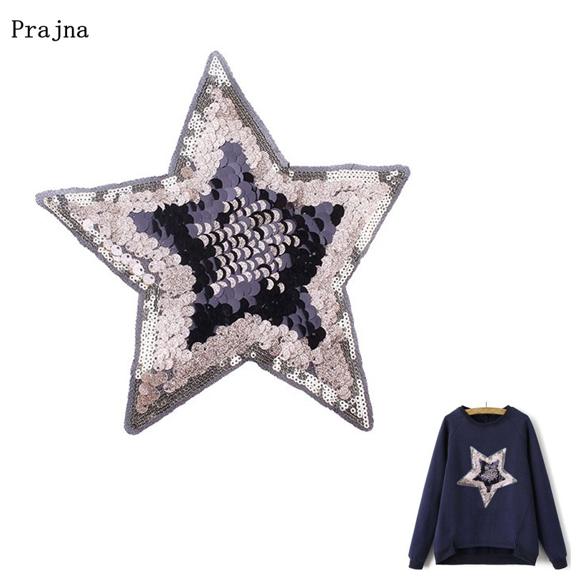 Tassel Fringe Sequin Star Applique Patch strass broderie iron on patches