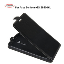HUDOSSEN For Asus ZenFone Go ZB500KL ZB500KG Case Luxury Leather Back Case Flip Phone Cover Bag Skin For Asus ZenFone Go ZB500KL