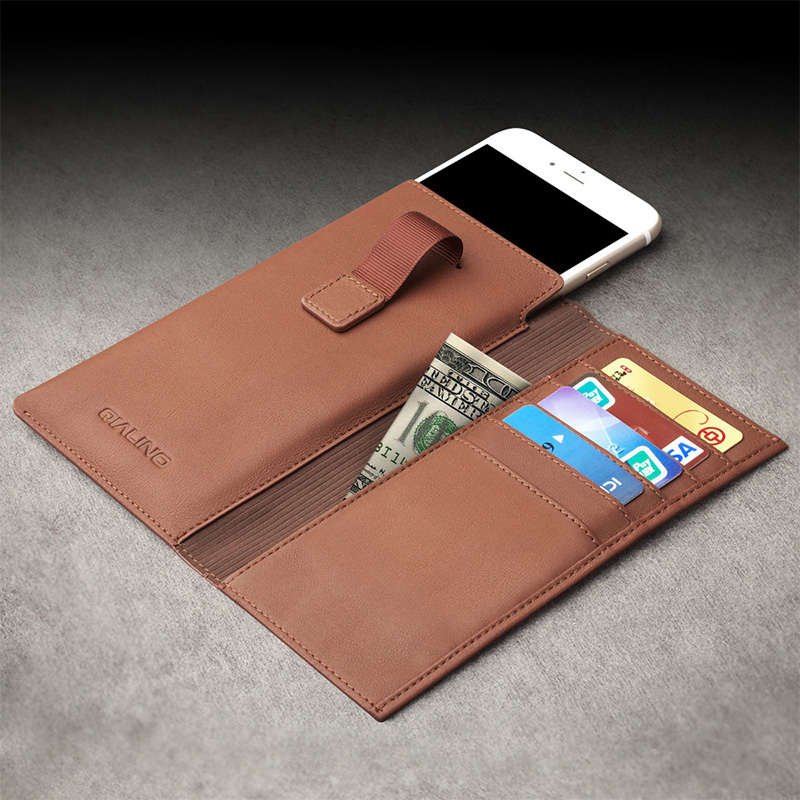"QIALINO Νέα θήκη για iphone 6 6s 4.7 Case Wallet Pouch Fundas για iphone 6 plus 6s plus 5.5 ""Leather with Card Slot Luxury Case"