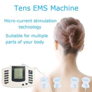 Image 2 - Tens massager machine electro stimulator pad electrode muscle electrostimulator physiotherapy ems training with slipper+8 pads