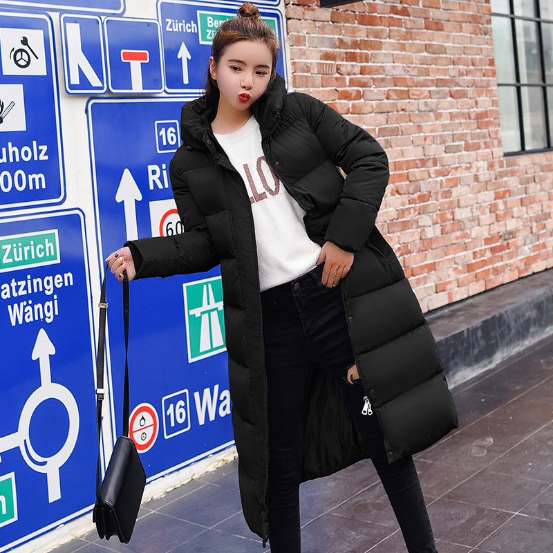Большие размеры 3XL, пуховики, модное женское зимнее пальто, Длинная тонкая плотная теплая куртка, пуховик с хлопковой подкладкой, верхняя од...