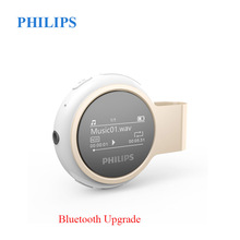 Philips Original Reproductor de MP3 Bluetooth Digital USB Radio FM 8GGB inalámbrico sin pérdida de tiempo con podómetro Clip de metal