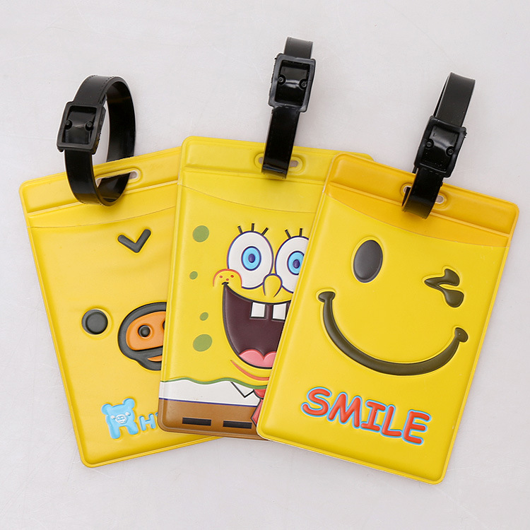 Beautiful yellow  luggage tag Bus card set,Bag Parts & Accessories for Travel,3 color for choose beautiful darkness