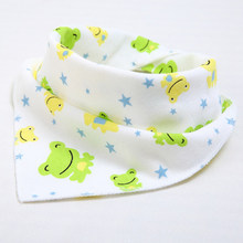 New Cute Baby Bibs Baby Feeding Cartoon Printing Cotton Newborn Infant Girls And Boys Toddler Triangle Scarf Bib Bandana(China)