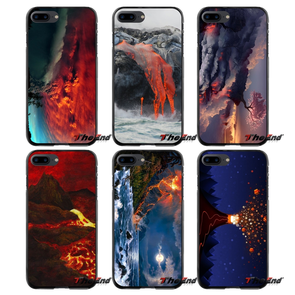 Accessories Phone Cases Covers For Apple iPhone 4 4S 5 5S 5C SE 6 6S 7 8 Plus X iPod Touch 4 5 6 Volcano