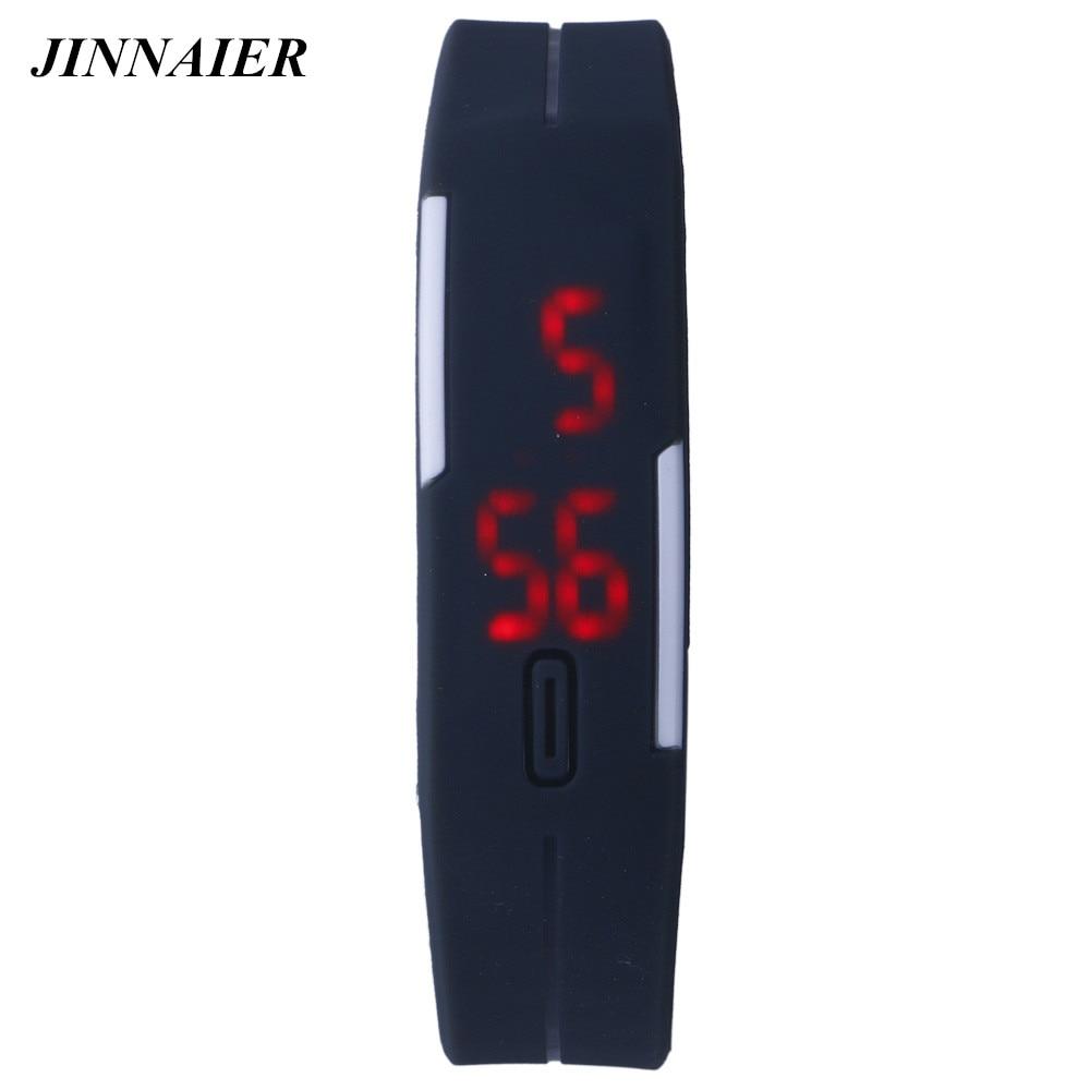 10pcs/lot Wholesales Hot Sales LED Fashion Cool Couple Bracelet Wrist Movement Electronic Mini Silicone Watch