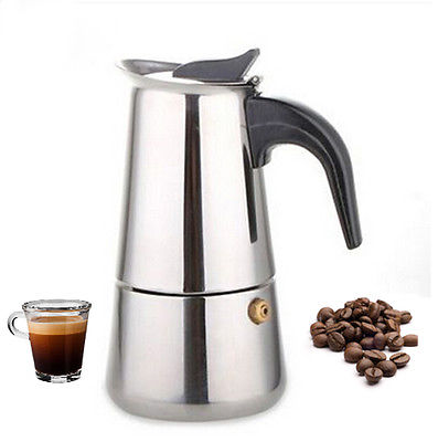300 ML Stainless Steel Moka Express 6 Cup Coffee Maker Stovetop Espresso Pot